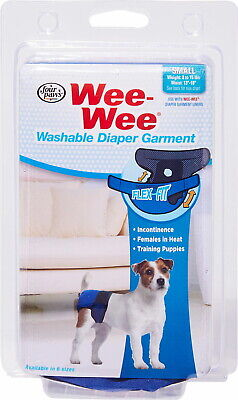 Four Paws Wee Wee Washable Diaper Garment, Small