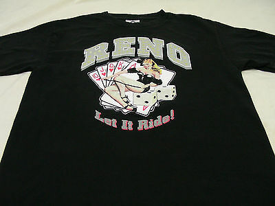 Reno - Let It Ride! - Nevada - Medium Size T Shirt!
