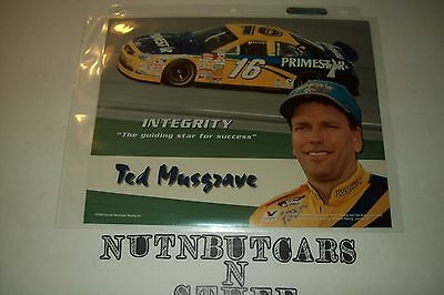 Ted Musgrave Racing 8X10 Photo