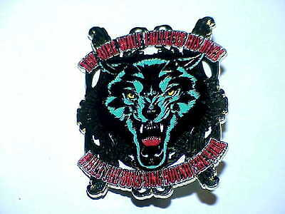 GRATEFUL DEAD JERRY GARCIA RELIX 1 3/4 inch DIREWOLF COLLECTS HIS DUES PIN
