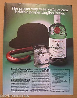 1986 Tanqueray Special Dry English Gin ColorAD