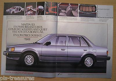 1986 Mazda 323 Deluxe Sport Sedan Color 2-pages AD