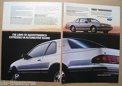1987Ford Thunderbird Color 2-pages AD