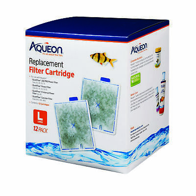 Aqueon Replacement Filter Cartridges, Large 12ct
