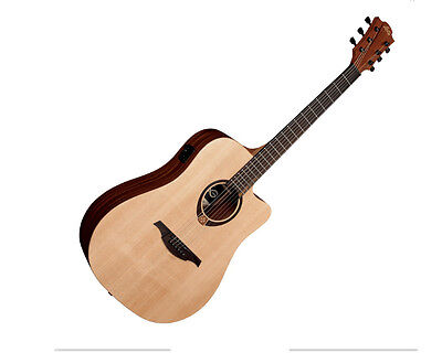 Lag Tramontane T70DCE Dreadnought Cutaway Electro Acoustic Guitar Natural