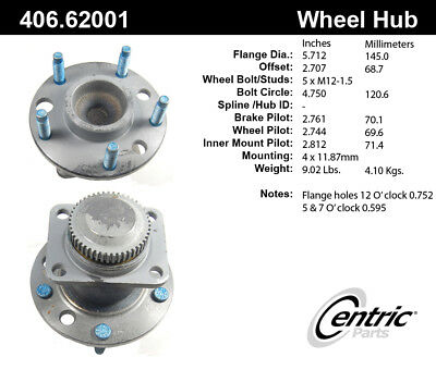 Wheel Bearing and Hub Assembly Front Centric fits 84-90 Chevrolet Corvette