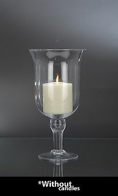 Large Hurricane Glass Vase Home Decor Decorative Wedding Pillar Candle Holder