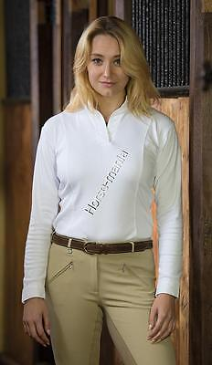 Shires Ladies Long Sleeved Hunt Shirt White Assorted Sizes (9532)