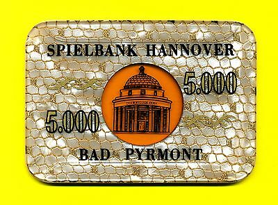 Hannover-Bad Pyrmont Spielbank Casino 5000 DM Plaque Hannover - Bad Pyrmont