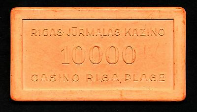 Riga Casino Plage 10000 Plaque Riga/Lettland  very old