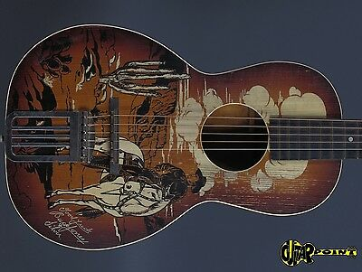 1941 Regal Buck Jones  Parlor Cowboy Guitar - Sunburst  -  Made in U.S.A.