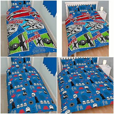 Disney Star Wars Craft Duvet / Quilt Cover Bedding Bed Sets - Single or Double