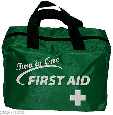 110+ Pieces 2 in 1 Complete First Aid Kit Bag - Handy Home, Sports, Travel, Car