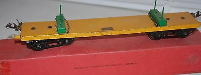 HORNBY SERIES O GAUGE No 2 LUMBER WAGON IN YELLOW LIVERY ORIGINAL BOX