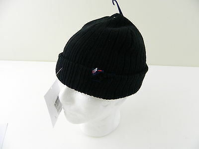 24f79a006c5a4 TOMMY HILFIGER  125 MENS CASUAL Beanie HAT Acrylic One Size Black NWD SALE  L27