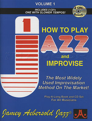 How To Play Jazz And Improvise 1 Sheet Music Book with 2CDs Jamey Aebersold