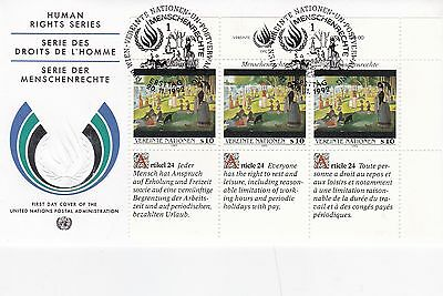 United Nations 1992 Human Rights Series Unadressed(2) FDC