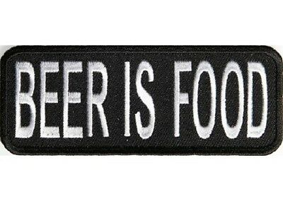 Beer Is Food Funny Patch