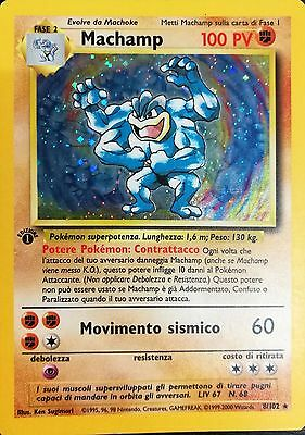 POKEMON - Machamp 8/102 - Holo - Prima Edizione - Set Base ITALIANO