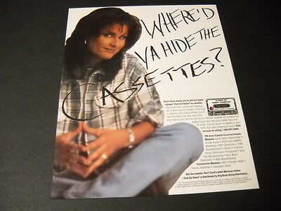 TERRI CLARK wants to know... WHERE'D YA HIDE THE CASSETTES 1997 Promo Poster Ad