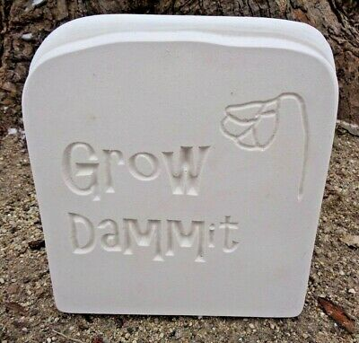 """Grow Dammit stepping stone rock 1//8th/"""" plastic mold  10/"""" x 10/"""" x 2/"""" thick"""
