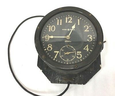 1935 US Navy General Electric Telechron Large Ships Clock