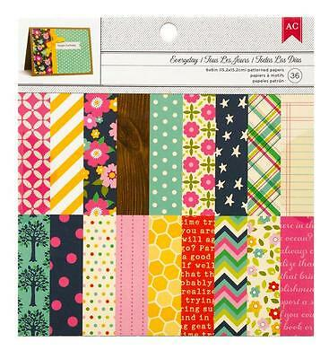 American Crafts EVERYDAY 6x6 Paper Pad Planner Pocket Page Scrapbook Home Decor