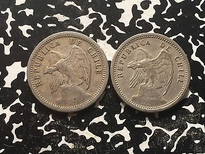 1940 Chile 20 Centavos Circulated (1 Coin Only)