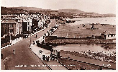 1 scotland scottish postcard largs putting green golf