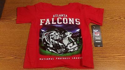 63ed222a1 Nfl Atlanta Falcons Toddler T-Shirt Red Nwt New 2T - 4T 100% Cotton