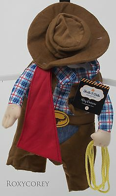 Halloween Thrills & Chills Stand Up Cowboy Pet Dog Costume Size Small NWT