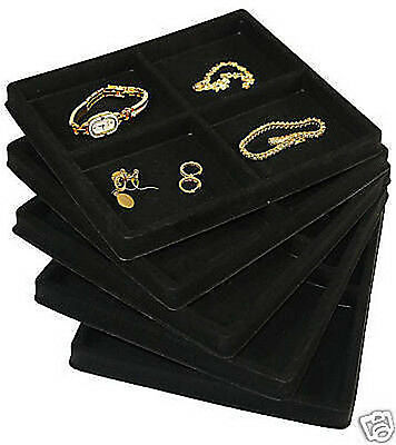 5-4 Compartment Black Insert Tray Showcase Display
