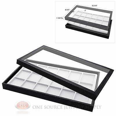 (1) Acrylic Top Display Case & (1) 18 Compartmented White  Insert Organizer