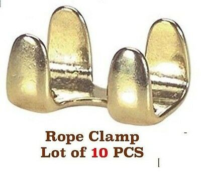 Hardware Lot of (10) LEAD ROPE BRASS PLATED LIGHT DUTY CLAMPS 40379