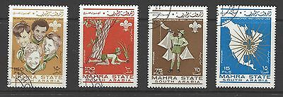SOUTH ARABIA # 12A-15A Used  BOY SCOUTS WORLD JAMBOREE