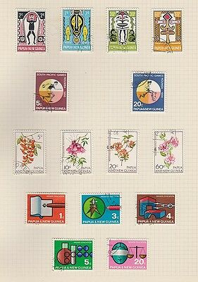 PAPUA NEW GUINEA 221-264, 11 sets used missing 1 stamp