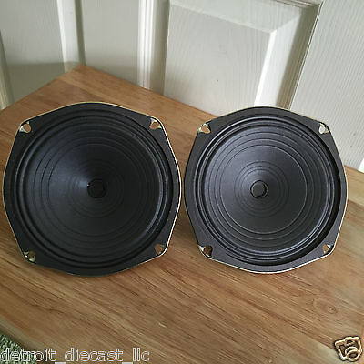 """2 NOS Vintage Old School 6-1/4"""" 8 Ohm Projected Sound Speakers"""