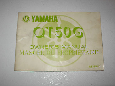 Yamaha QT50G Motorcycle Owner's Manual , issued 1979