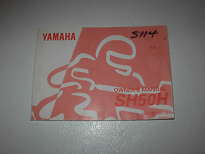 Yamaha SH50H Motorcycle Owner's Manual , issued 1995
