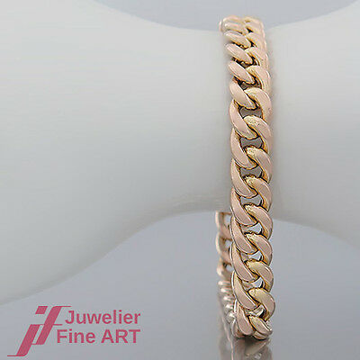 Armband - Panzer-Muster in 14K/585 Gelbgold-ca.20,0 cm lang - sehr guter Zustand