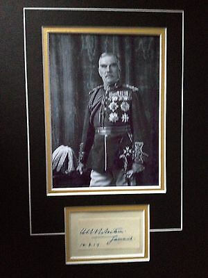 William Robertson - Distinguished Army Officer - Superb Signed Photo Display