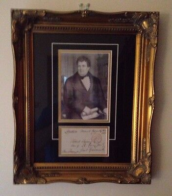 Daniel O'connell - M.p. The Irish Liberator - Signed & Framed Display