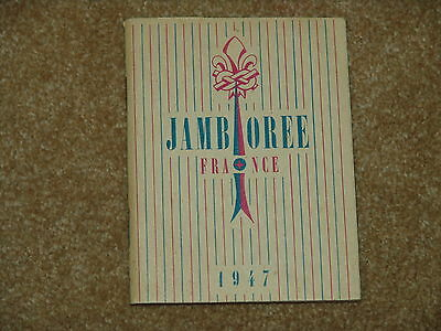 1947 world jamboree book - name of owner on inside page - 60 pages
