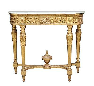 19Th Century Gilt And Marble Consul Table