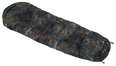 BW German Army Outdoor Flecktarn camouflage Sleeping bag Mumien Schlafsack