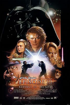 Star Wars Revenge Of The Sith Laminated A4  Mini Poster
