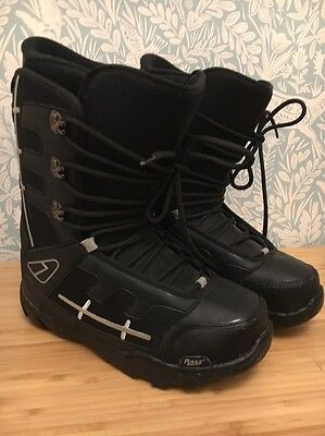 Rage Reactor Black Snow Boarding Boots Size Uk9.5