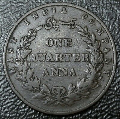 1858 INDIA-BRITISH - ONE QUARTER 1/4 ANNA (1/64) - COPPER - Nice