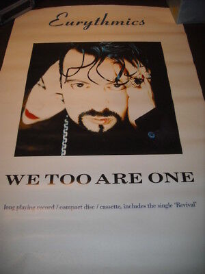 Eurythmics We Too Are One In Store Poster
