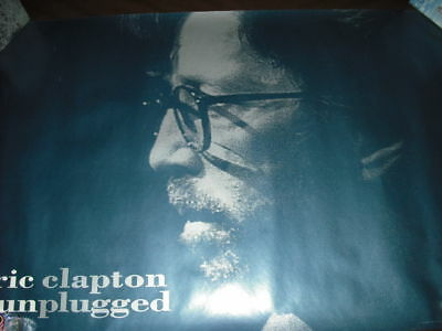 Eric Clapton Unplugged Blue In-Store Promo Poster
